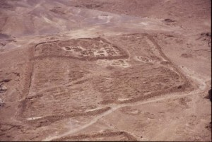 Photo of Camp F, taken from the top of Masada (photo by Jodi Magness).