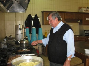 Abu Ahmed cooking in the ACOR kitchen
