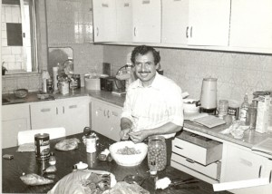 Abu Ahmed preparing a Thanksgiving feast in 1982.