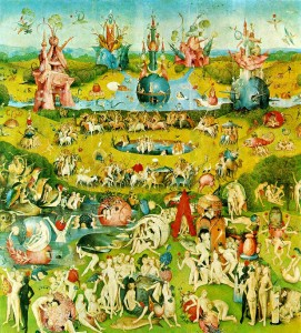 The Center Panel (Paradise) of the Garden of Earthly Delights by Hieronymous Bosch