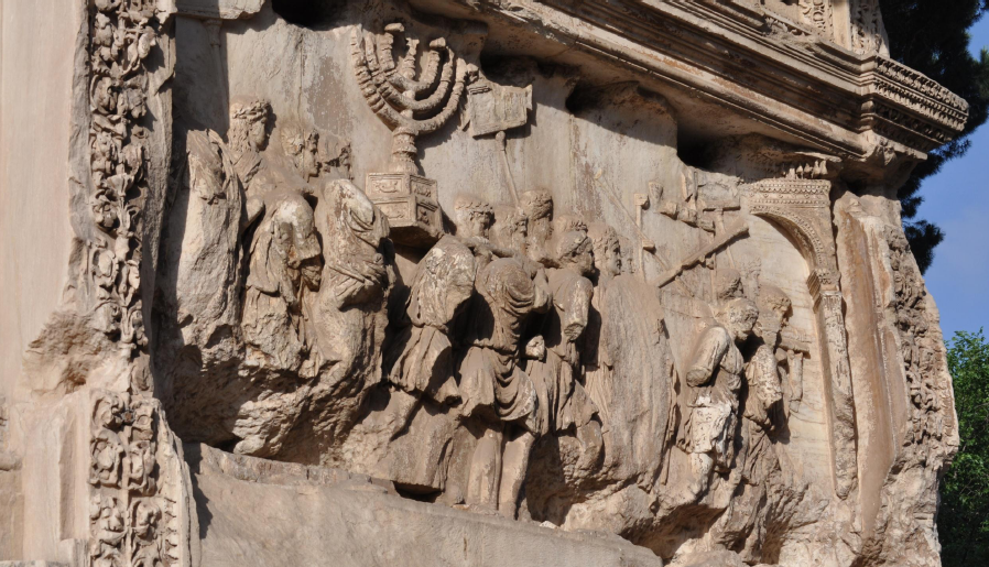 ... Discovers Lost Color on the Arch of Titus' Menorah - The ASOR Blog