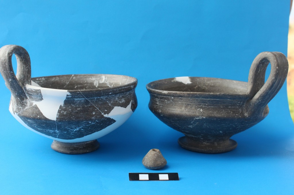 Fig 3: Fine polished grey pottery (Middle Bronze Age) found during 2012 fieldwork.
