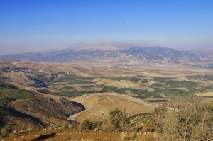 Abel Beth Maacah from Misgav Am looking towards Mt. Hermon. Photo by A.D. Riddle/Bibleplaces.com