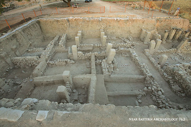 NEA Figure 74: Remains of the storehouse (tripartite building) in Area M (looking west).