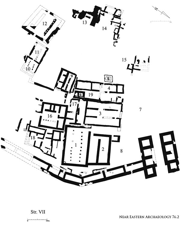 NEA Figure 75: Stratum VII city plan in Area A, ninth century B.C.E.