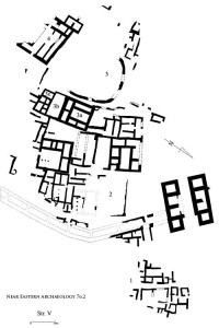 NEA Figure 80: Stratum V city plan in Area A, eighth century B.C.E.