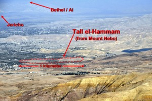 Tall el-Hammam as seen from Mt. Nebo. Photo courtesy Steven Collins.