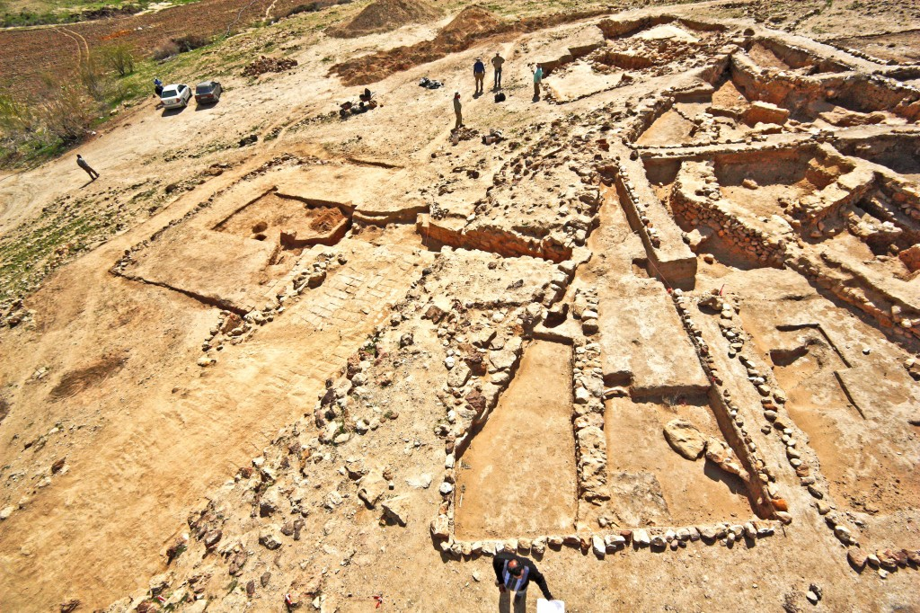 Tall el-Hammam's Bronze Age southern fortifications. Photo courtesy Steven Collins.