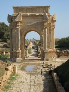 Leptis Magna, Arch of Septimius Severus. Photo courtesy of Susan Kane.