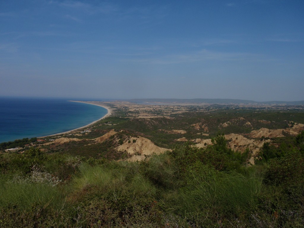 View north toward Suvla Bay. Courtesy Sarah Midford and Jessie Birkett-Rees.