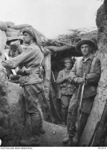 Captured Turkish Trench at Lone Pine (AWM PS1514). Courtesy Sarah Midford and Jessie Birkett-Rees.