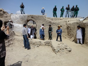 Deputy Minster of Mines Nassir Durani visiting Mes Aynak. Photo courtesy Hans Curvers.