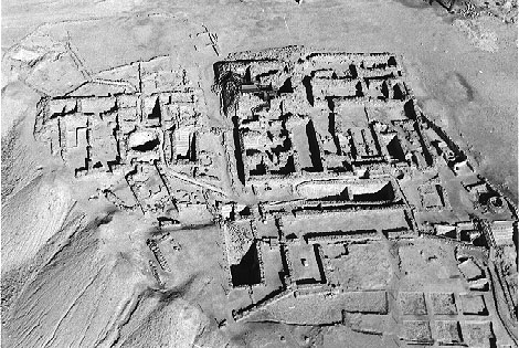 Aerial view of the Qumran community.