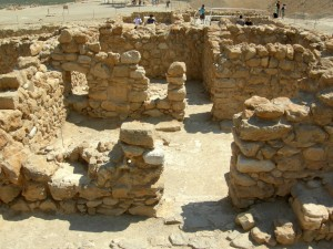 Living quarters at Qumran.