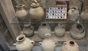 Early Bronze Age pots legally available for sale in Jerusalem, Israel.