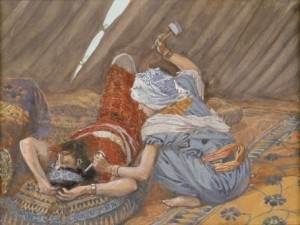 James Tissot, Jael Smote Sisera, and Slew Him, 1902.