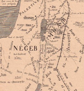 Fig. 1 Bedouin Map ca. 1900.