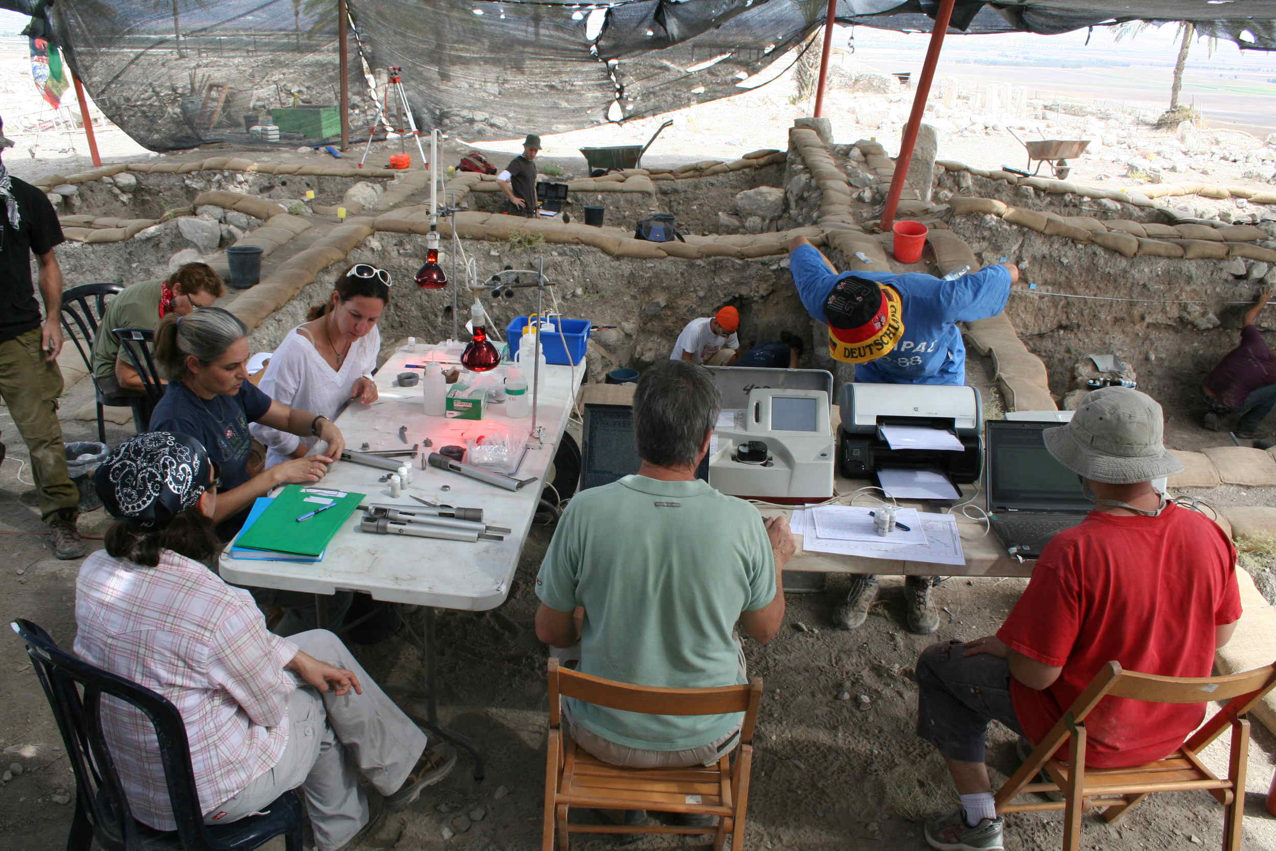 Figure 9: The Kimmel Center team at work in Megiddo, Israel. Photo credit: Israel Finkelstein.