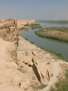 View of the Euphrates River at Dura Europos.