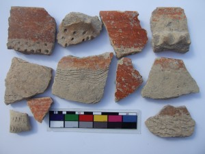 Pottery sherds of the Wadi Rabah culture.
