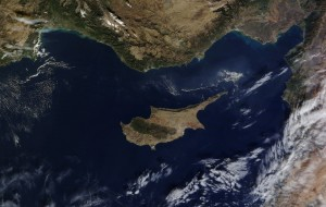 Cyprus, satellite view.