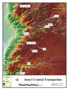 Map of Transjordan showing sites mentioned in the text. Image courtesy of Thomas Petter.