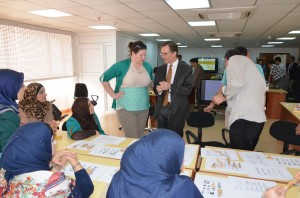 US Consul General Joseph Pennington visiting the Iraqi Institute for the Conservation of Antiquities and Heritage. Photo courtesy Michael Danti.