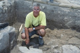 Dr. Eric Cline at a dig site.