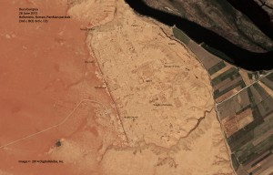 Dura Europos, satellite view, 28 June 2012