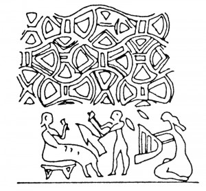 Uruk seal impression from Ur (ca. 3000 BC). D. Collon, First Impressions (London: British Museum Press, 1987) no. 661.