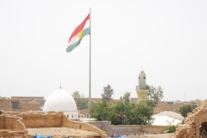 Kurdish flag over the Erbil Citadel. Photo courtesy Michael Danti.