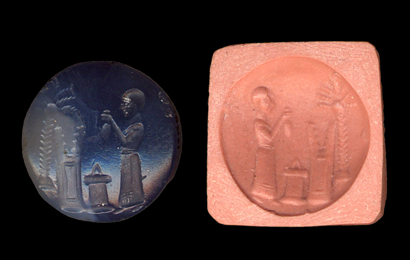 BM 128852: an Achaemenid period stamp seal (4th cent. BC) © Trustees of the British Museum. My thanks to C.B.F. Walker for drawing my attention to this unpublished seal.