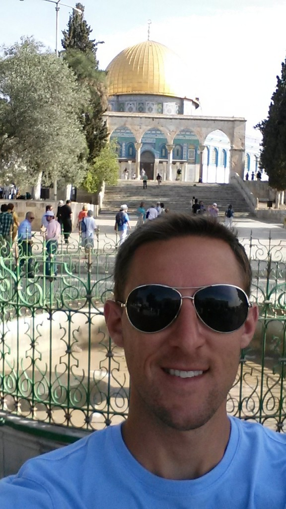 Glassman at the Dome of the Rock.