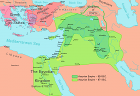 Map of Assyrian Empire.