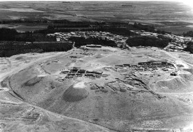 Aerial view of Hasanlu. Hasanlu Project, Courtesy of the Penn Museum.