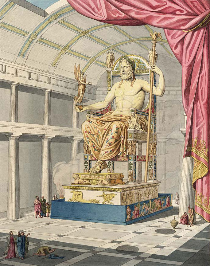 Zeus in Olympia, by Antoine Chrysostome Quatremère de Quincy (1755-1849).