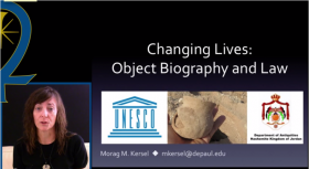 Object Biography and Law Morag Kersel