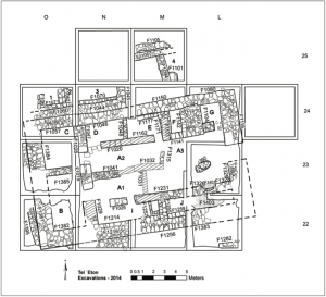 The plan of the governor's residency in Area A. Prepared by Yair Sapir and Segev Ramon.