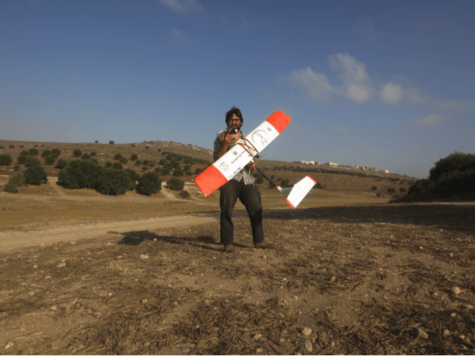 Ready to launch the fixed wing drone