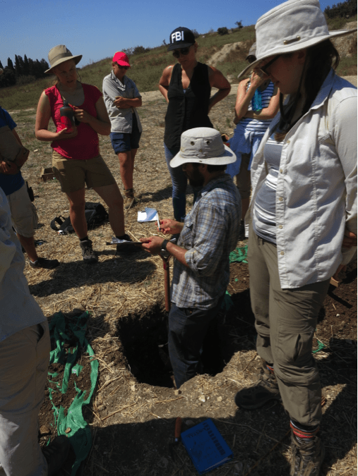 Teaching students how to record a test pit