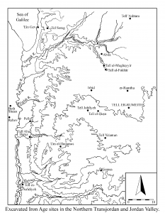 Map showing location of Tell er-Rumeith. All figures courtesy of Tristan Barako except where otherwise noted.