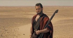 Charlton Heston as Moses.