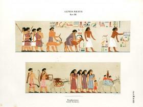Tomb 3 Asiatic scene. Carl Richard Lepsius, Denkmäler aus Aegypten und Aethiopien, Leipzig, 1913