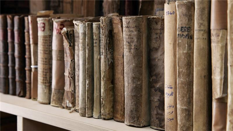 Books rescued from the Mosul Library.