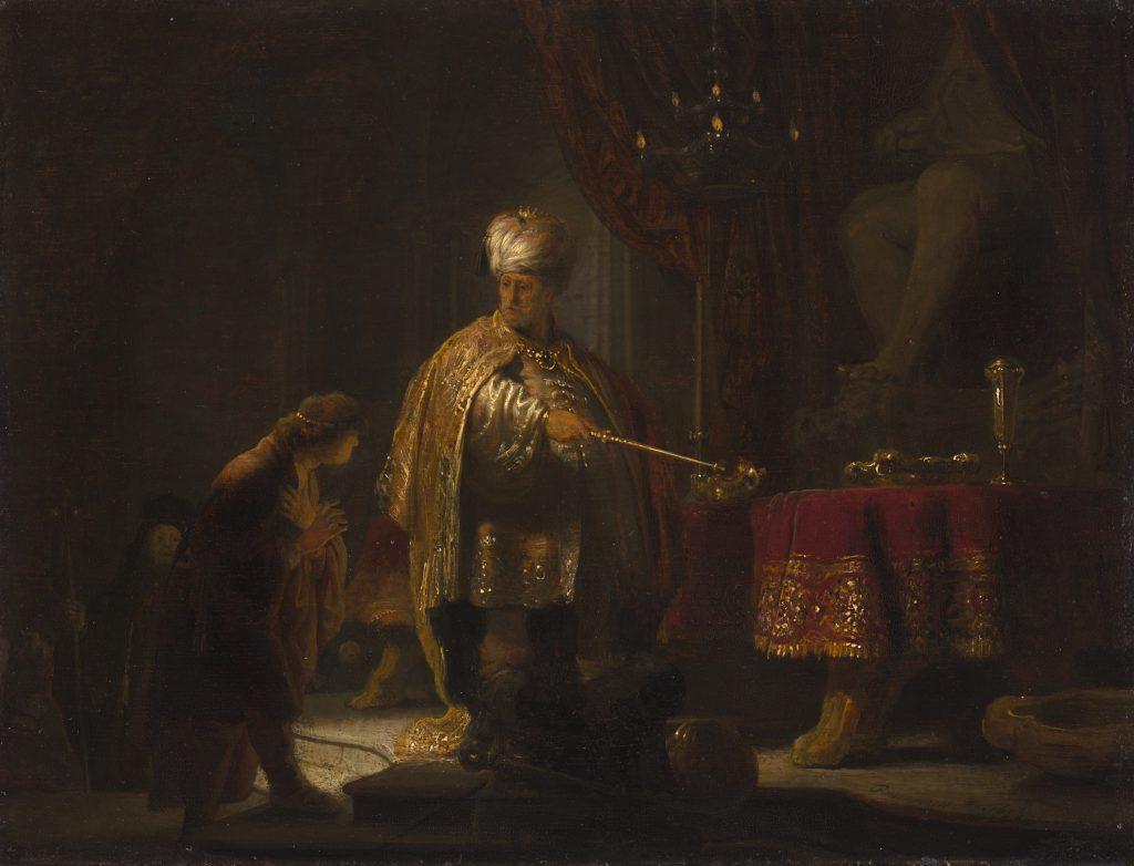 Daniel and Cyrus Before the Idol Bel. Rembrandt van Rijn, 1633.