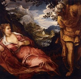 Meeting of Tamar and Judah, Tintoretto
