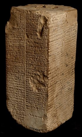 Weld-Blundell prism in the Ashmolean Museum containing an Old Babylonian version of the Sumerian King List