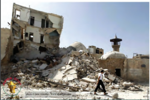 By monitoring a wide range of social media, ASOR's Syrian Heritage Initiative seeks to identify and document destruction as it occurs in real time with a view to developing plans to restore Syria and Iraq's cultural heritage. Image from the Syrian Heritage Initiative Weekly Report 18.